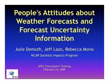 People's Attitudes About Weather Forecasts And Forecast