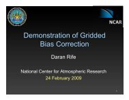 Demonstration of Gridded Bias Correction