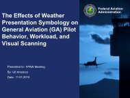 The Effects of Weather Presentation Symbology on General Aviation ...