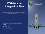 Weather Integration Opportunities - RAL