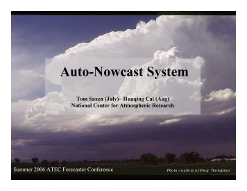 What is the NCAR Auto-nowcast System? - RAL