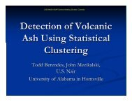Detection of Volcanic Ash Using Statistical Clustering - RAL