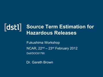 Estimation of Source Parameters for Hazard Releases