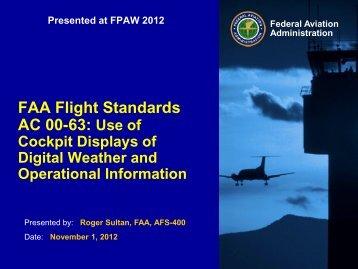 FAA Flight Standards AC 00-63: Use of