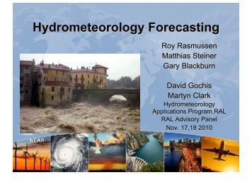 Hydrometeorology Forecasting - RAL - University Corporation for ...