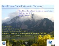 Some Extreme Value Problems in Climatology