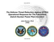 The Defense Threat Reduction Agency (DTRA) Operational ...