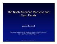 The North American Monsoon and Flash Floods