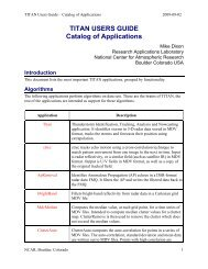 TITAN USERS GUIDE Catalog of Applications