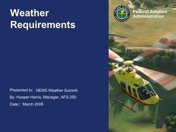 Weather Requirements