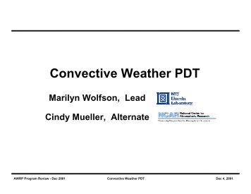 Convective Weather PDT - RAL