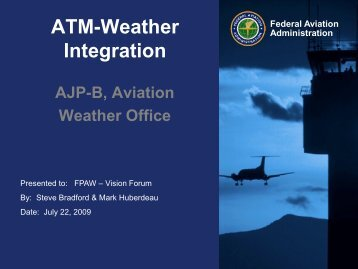ATM-Weather Integration Plan - RAL