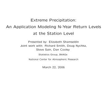 Extreme Precipitation: An Application Modeling N-Year Return ...