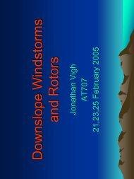 Downslope Windstorms - RAL - UCAR
