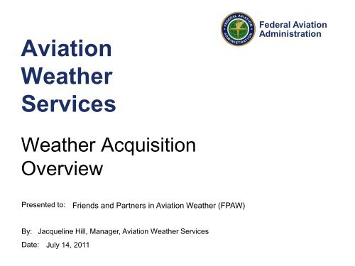 Aviation Weather Services Update to FPAW - RAL