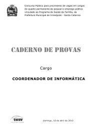 CADERNO DE PROVAS - Concursos
