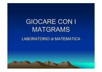 GIOCARE CON I MATGRAMS - KidsLink