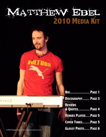 2010 media kit - Matthew Ebel