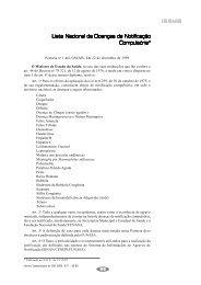 Lista Nacional de Doenças de Notificação Compulsória*