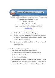 Faculdade de Filosofia Ciências e Letras Dom Bosco - Curso de ...