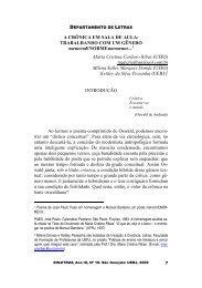 A CRÔNICA EM SALA DE AULA: TRABALHANDO COM UM ...
