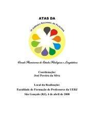 ATAS DA Círculo Fluminense de Estudos Filológicos e Lingüísticos