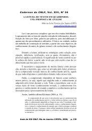 Cadernos do CNLF, Vol. XIII, Nº 04 A LEITURA DE ... - CiFEFiL