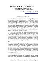 Estudos historiográficos e o ensino de língua portuguesa - CiFEFiL