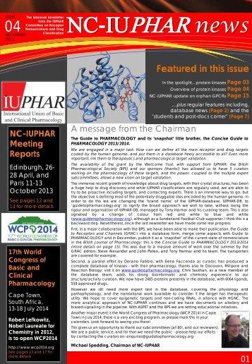 NC-IUPHAR newsletter