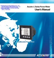 Acuvim-l Power Quality Meter/Analyzer User Manual - MicroDAQ.com