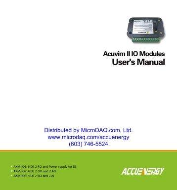 Acuvim Input Output Modules User Manual - MicroDAQ.com