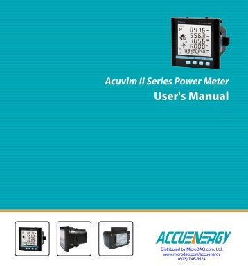 Acuvim User Manual - MicroDAQ.com