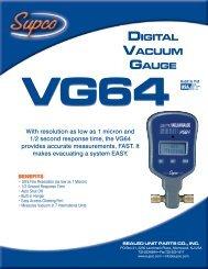 Vacuum Gauge; VG64 Digital - Supco
