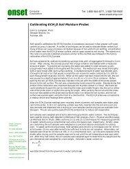 Calibrating Soil Moisture Probes - MicroDAQ.com