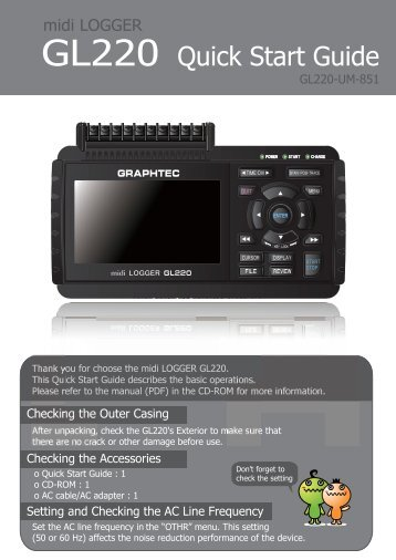 GL220 Quick Start Guide - Graphtec America Inc.