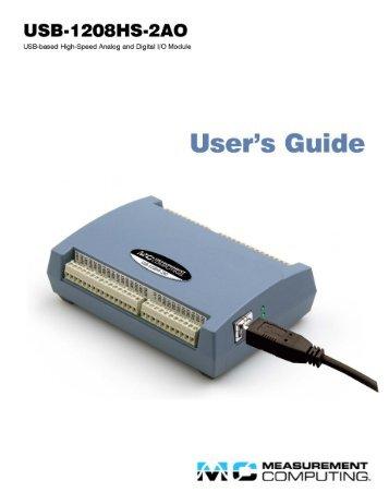 USB-1208HS-2AO User's Guide - MicroDAQ.com
