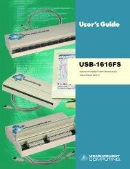 USB-1616FS User's Guide - MicroDAQ.com