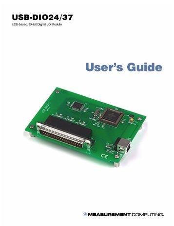 USB-DIO24/37 User Manual