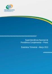 Informe Estatístico - 1º Trimeste de 2013. - Ministério da Previdência ...