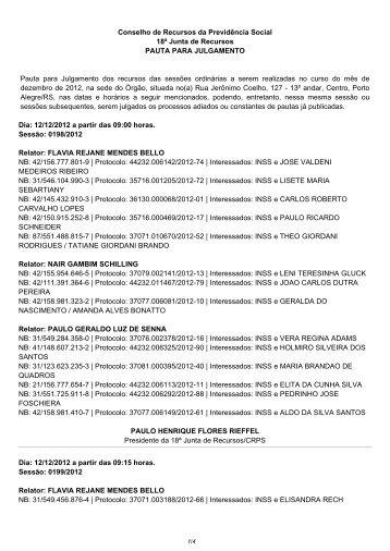 Pautas de julgamento nº 280 e 281 E-Recurso - Ministério da ...