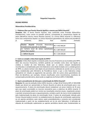 Matemáticas Previdenciárias - Ministério da Previdência Social