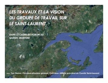 LES TRAVAUX ET LA VISION DU GROUPE DE TRAVAIL SUR LE SAINT-LAURENT ...