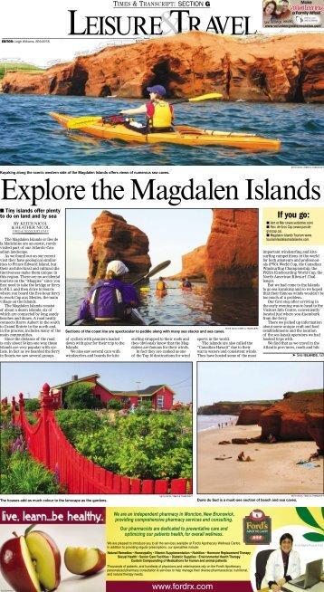 Explore the Magdalen Islands