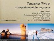 Tendances Web et comportement du voyageur - Québec maritime