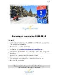 Présentation complète de la campagne 2012-2013 - Québec maritime
