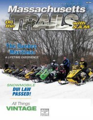 On the Trails with S.A.M. - Québec maritime