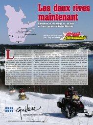 Randonnée de motoneige sur les rives du Saint ... - Québec maritime