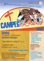 Depliant Campeggio Giovani - Rinnovamento nello Spirito Santo