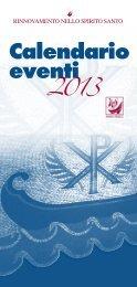Calendario RnS 2013 - Rinnovamento nello Spirito Santo