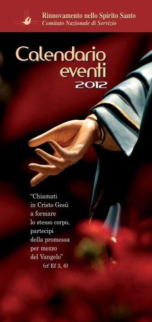 depliant del Calendario Giubilare 2012